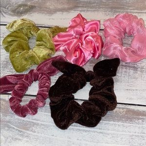 Mis Matched Scrunchie set of 5